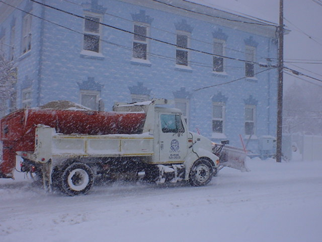 A Plow Heading Down East Church Street.