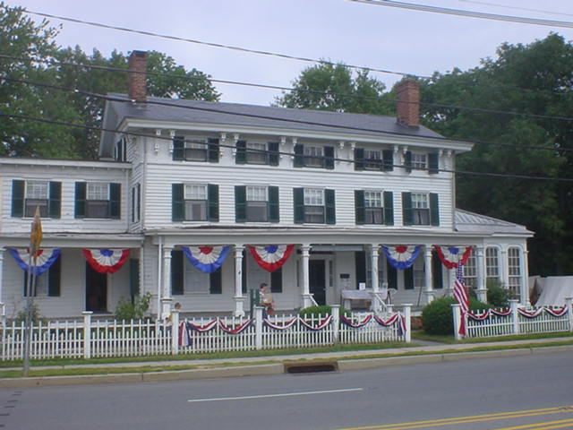The Buckelew Mansion Decked Out in Red, White, and Blue
