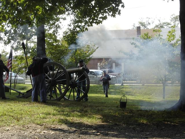 The day ended with a bang - from the 1844 Jamesburg Civil War Canon