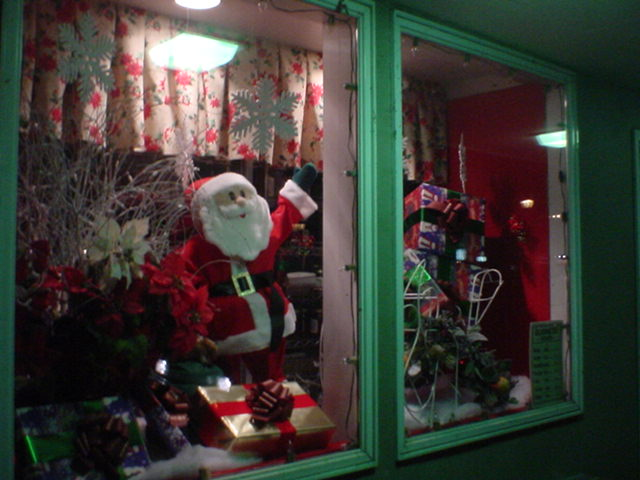 Mendoker's Famous Holiday Window Display.