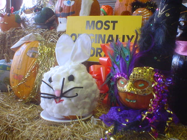 Even the Easter Bunny came out for Halloween!