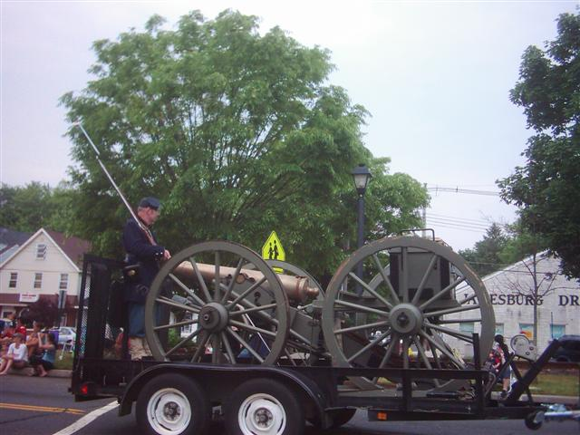 The Historic Jamesburg Civil War Cannon.