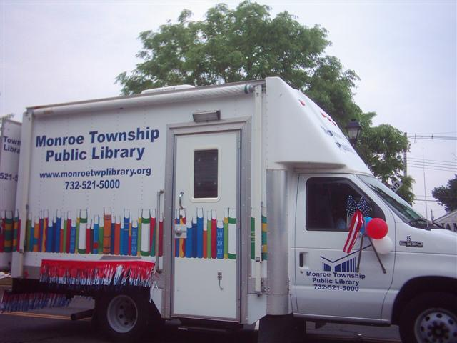 Monroe Township Public Library Bookmobile.