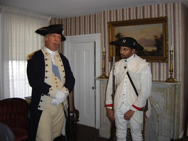 President George Washington with a soldier.