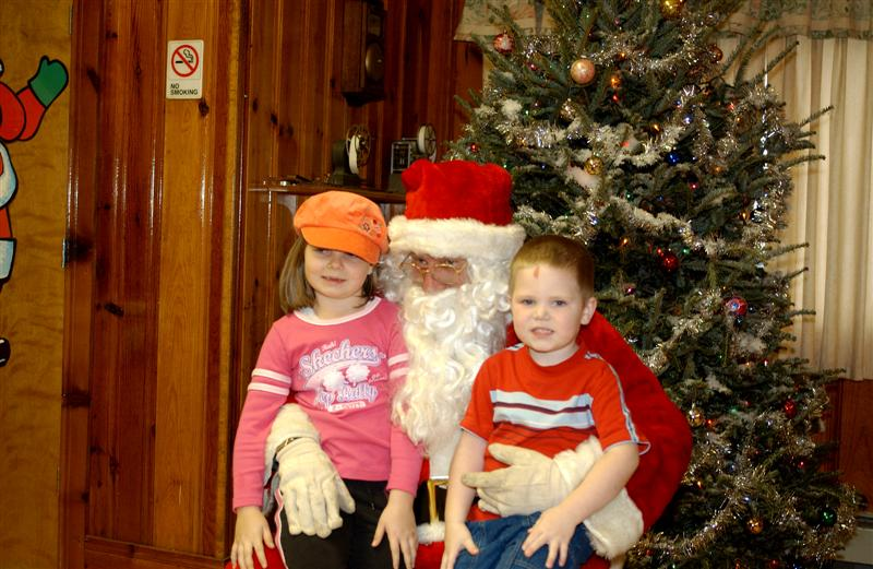 Children with Santa.