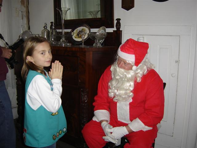 Santa listens to a girl's wish!